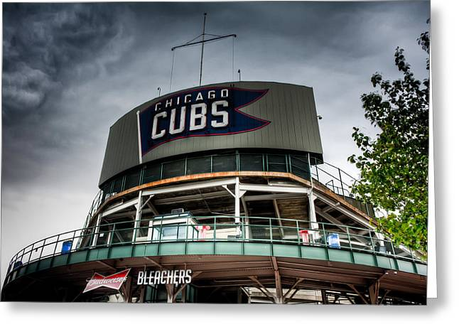 Friendly Confines Greeting Cards - Wrigley Field Bleachers Greeting Card by Anthony Doudt