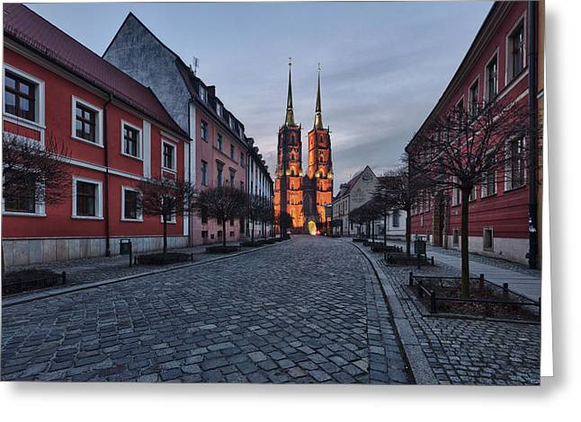 Poland Greeting Cards - Wroclaw Cathedral Greeting Card by Sebastian Musial