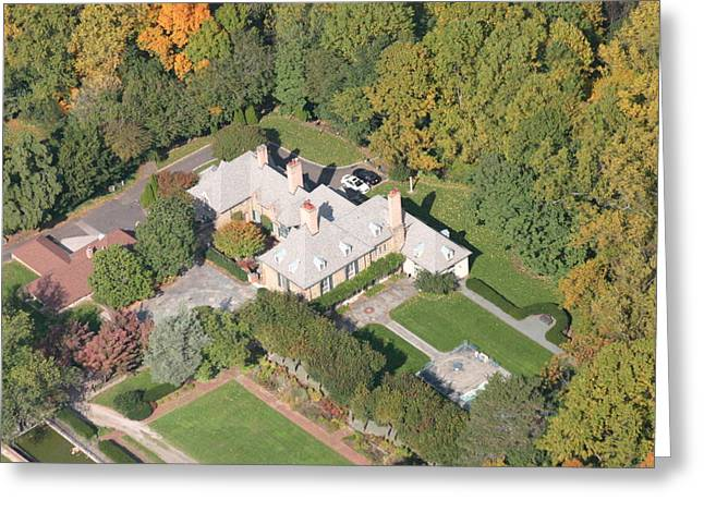 Pearson Aerial Greeting Cards - Wyndmoor House Greeting Card by Duncan Pearson