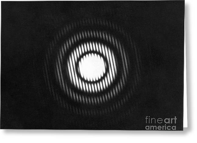 Photonic Greeting Cards - X-ray Diffraction Greeting Card by Omikron