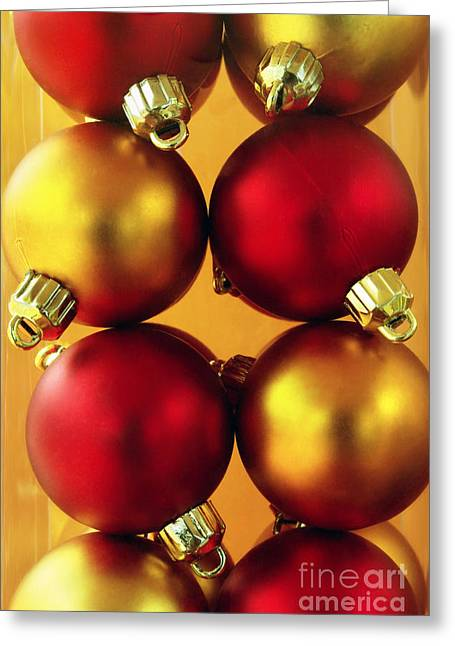 Trimmings Greeting Cards - Xmas Balls Greeting Card by Carlos Caetano