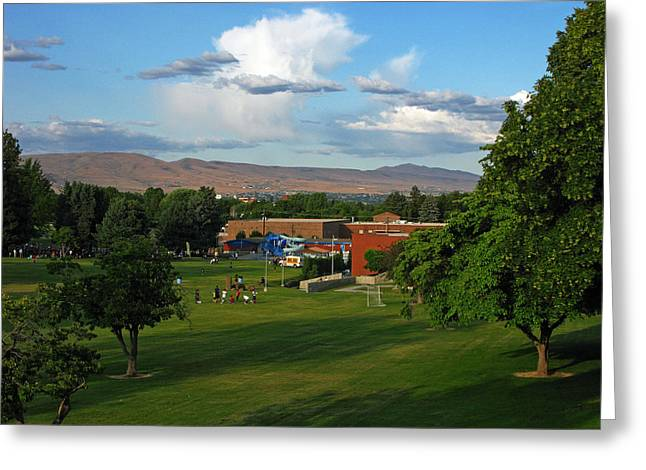 Yakima Valley Greeting Card by Ron Day