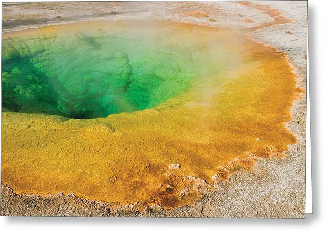 Image Of Morning Glory Greeting Cards - Yellowstone National Park, United Greeting Card by Philippe Widling