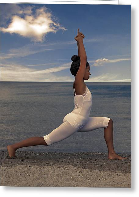 Sportswear Greeting Cards - Yoga Greeting Card by Joana Kruse