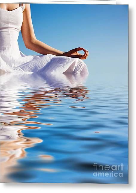 Wellbeing Greeting Cards - Yoga Greeting Card by Kati Molin