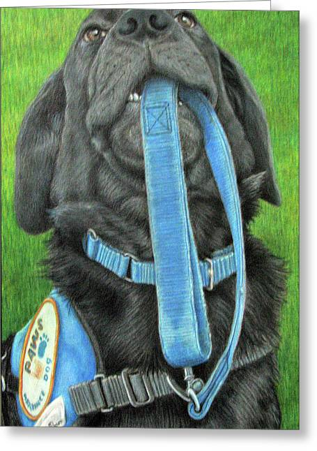 Black Labrador Retreiver Greeting Cards - You Called Greeting Card by Beverly Fuqua