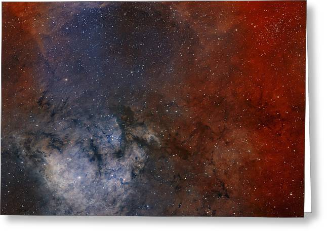 Star Formation Greeting Cards - Young Star-forming Complex Ngc 7822 Greeting Card by Rolf Geissinger