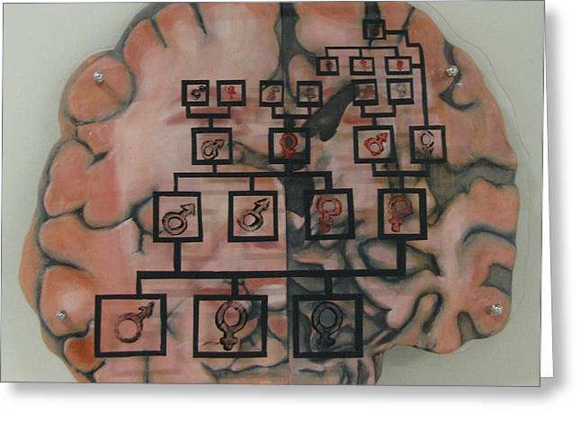 Conceptual Art Sculptures Greeting Cards - Your Brain on Alzheimers Greeting Card by Art Nomad Sandra  Hansen
