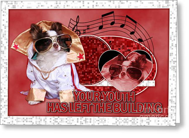 Your Youth Has Left the Building Greeting Card by Renae Laughner