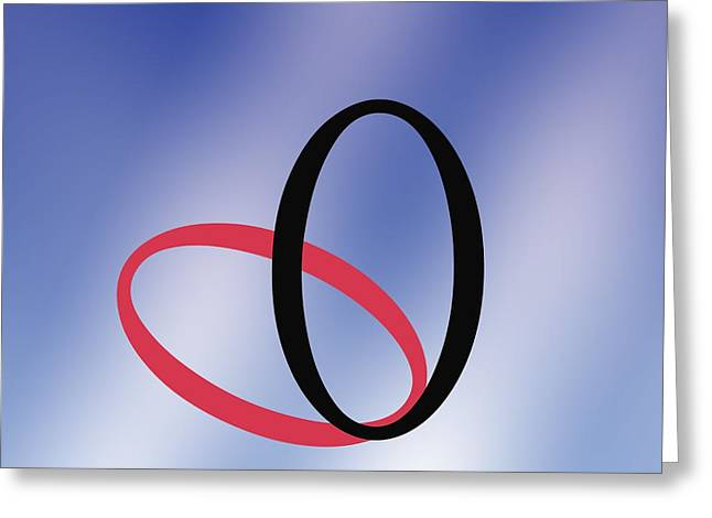 Nils Greeting Cards - Zero - Concept And Symbol Greeting Card by Sheila Terry
