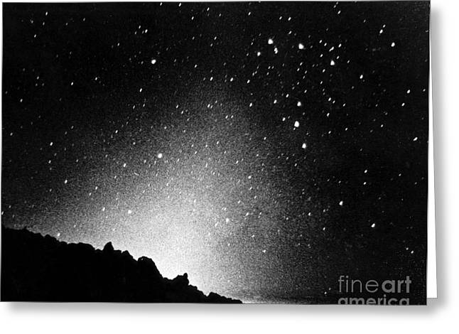 Zodiacal Greeting Cards - Zodiacal Light Greeting Card by Omikron/NASA