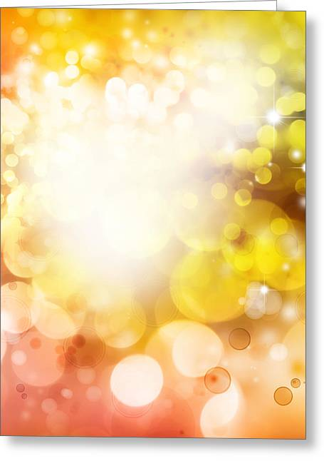 Yellow Images Greeting Cards - Abstract background Greeting Card by Les Cunliffe