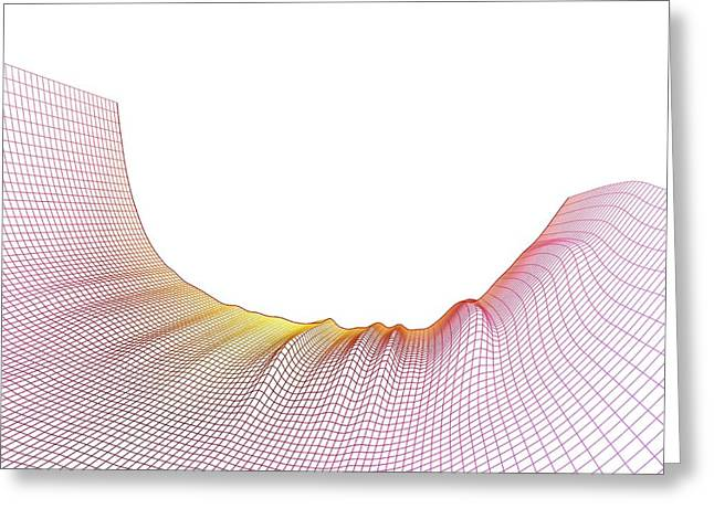 Abstract Line Pattern Greeting Card by Pasieka
