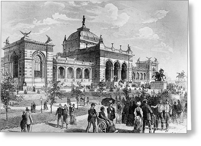 1876 Greeting Cards - Centennial Fair, 1876 Greeting Card by Granger