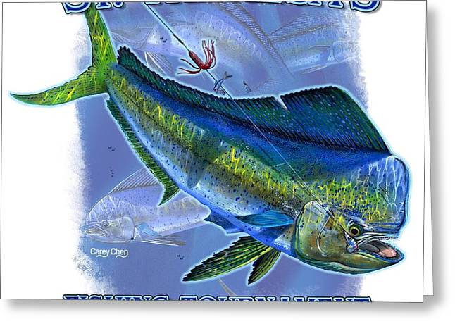 Marlin Tournaments Greeting Cards - Custom t shirts Greeting Card by Carey Chen