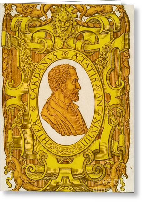 1576 Greeting Cards - Girolamo Cardano, Italian Mathematician Greeting Card by Science Source