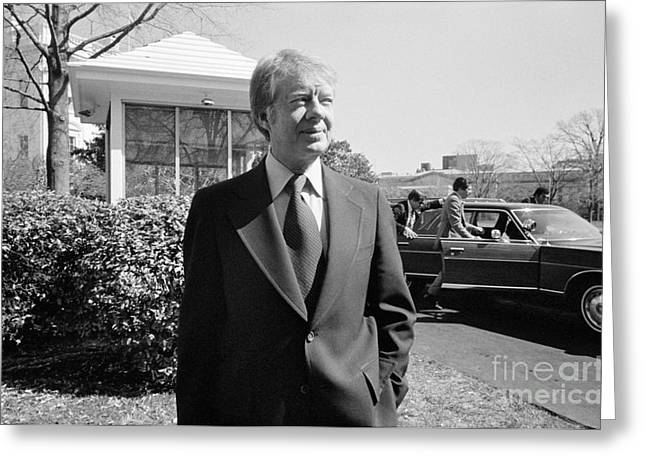 Carter House Greeting Cards - Jimmy Carter (1924- ) Greeting Card by Granger