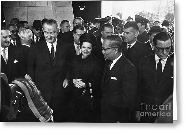 First-lady Greeting Cards - Lyndon Baines Johnson Greeting Card by Granger
