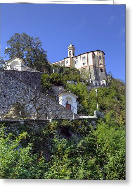 Way Of The Cross Greeting Cards - Madonna del Sasso - Locarno Greeting Card by Joana Kruse