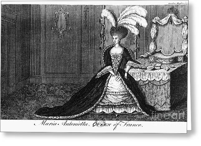 Dressing Room Greeting Cards - Marie Antoinette (1755-1793) Greeting Card by Granger