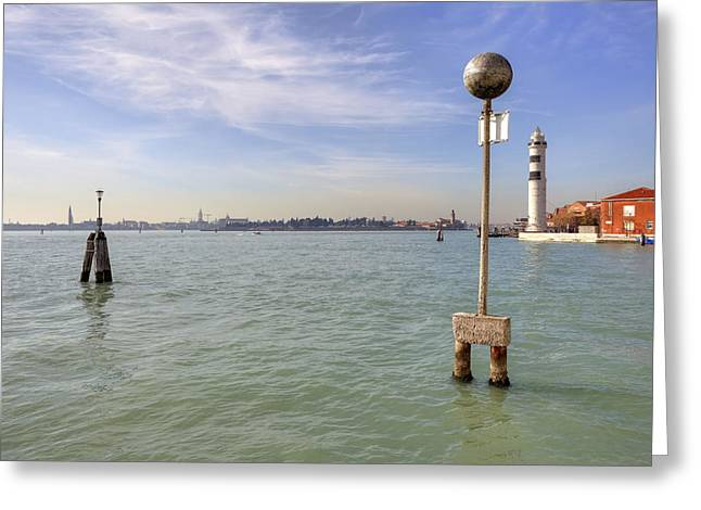 Canale Greeting Cards - Murano Greeting Card by Joana Kruse