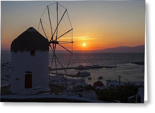 Cyclades Greeting Cards - Mykonos Greeting Card by Joana Kruse