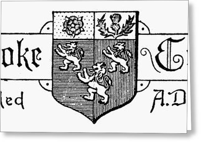 Lions Greeting Cards - Oxford: Coat Of Arms Greeting Card by Granger