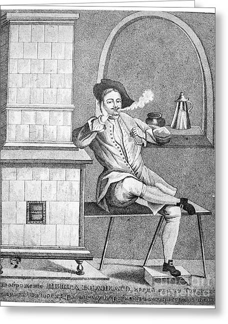 Smoker Greeting Cards - Peter I (1672-1725) Greeting Card by Granger