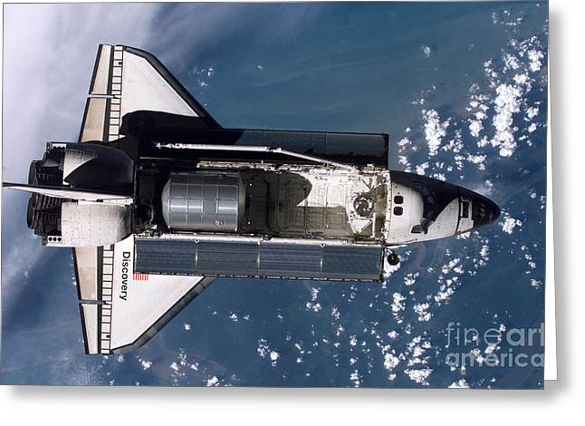 Sensors Greeting Cards - Space Shuttle Discovery Greeting Card by Nasa