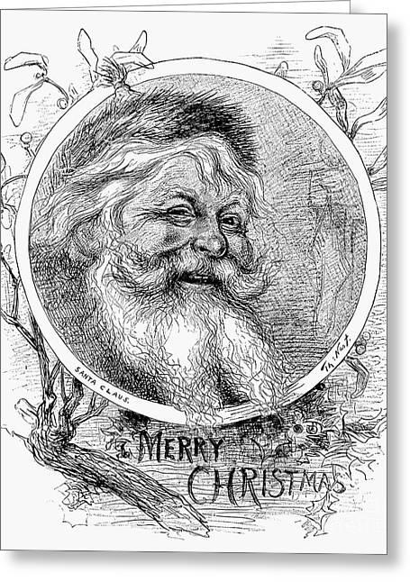 Nast Greeting Cards - Thomas Nast: Santa Claus Greeting Card by Granger