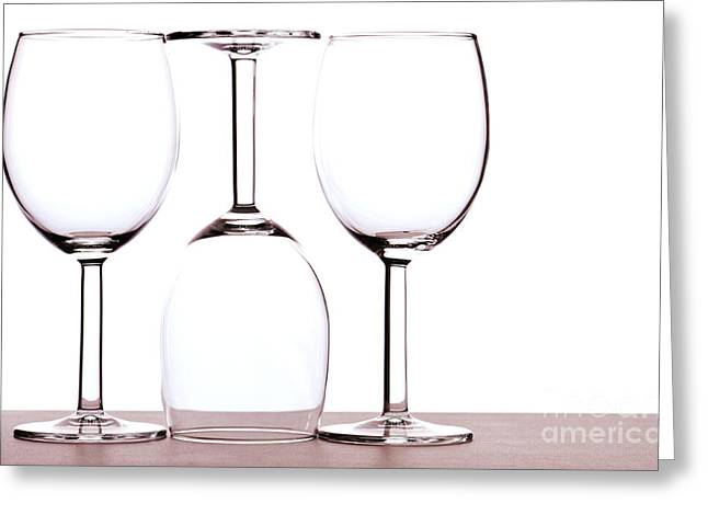 Champagne Glasses Greeting Cards - Wine glasses Greeting Card by Blink Images