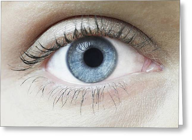 Part Of The Body Greeting Cards - Womans Eye Greeting Card by