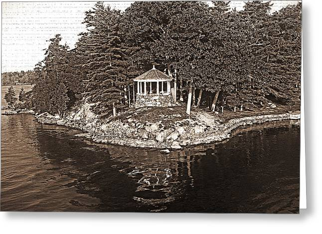 Duo Tone Digital Art Greeting Cards - 1000 Island Scenes 9 Greeting Card by Steve Ohlsen