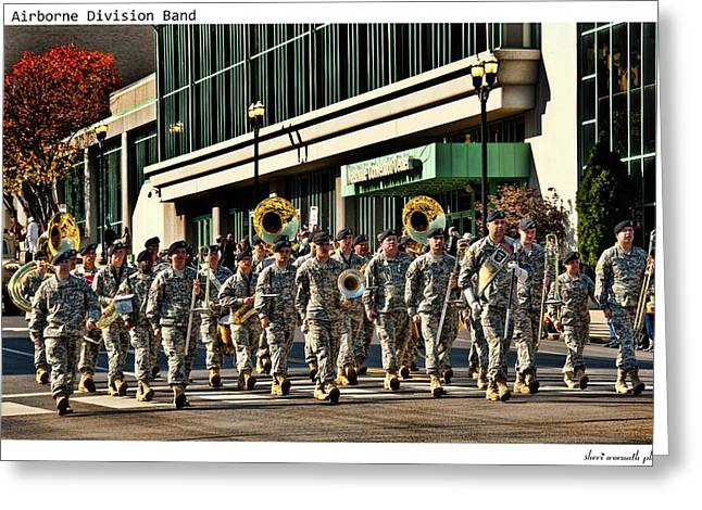 Marching Band Greeting Cards - 101st Airborne Division Band Greeting Card by Sheri Bartoszek