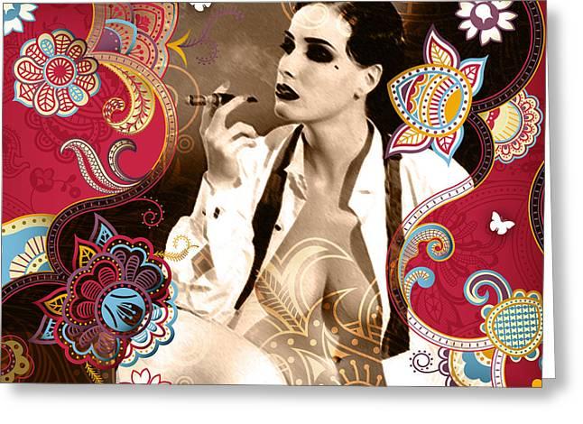 Ziegfeld Follies Greeting Cards - Goddess Greeting Card by Chris Andruskiewicz