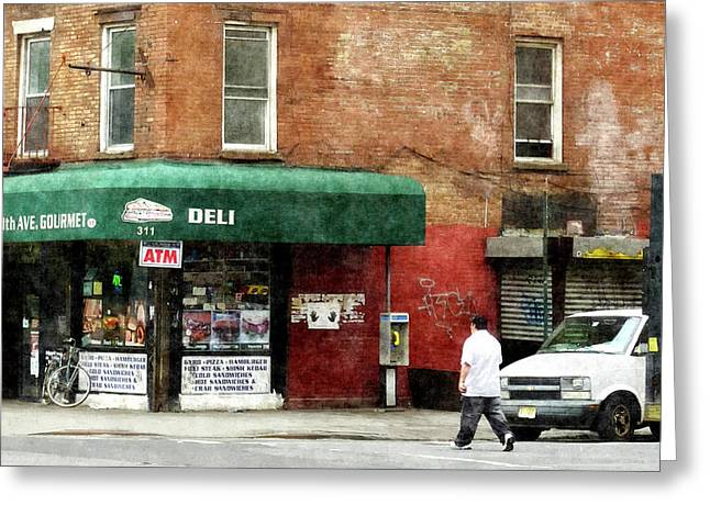 Deli Greeting Cards - 10th Ave. Deli in Manhattan Greeting Card by Susan Savad