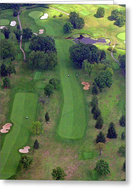 Plymouth Meeting Aerials Greeting Cards - 10th Hole Sunnybrook Golf Club 2 Greeting Card by Duncan Pearson