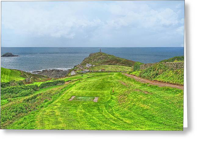 10th Tee At Cape Cornwall Golf Course Greeting Card by Chris Thaxter