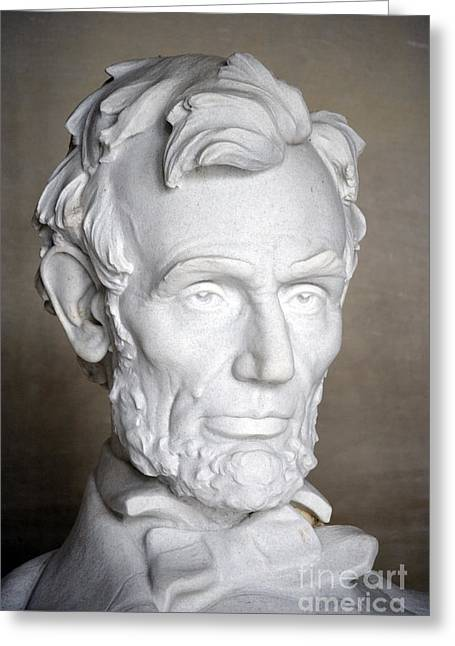 Statue Portrait Greeting Cards - Abraham Lincoln (1809-1865) Greeting Card by Granger