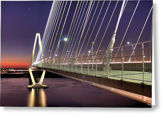 Charleston Greeting Cards - Arthur Ravenel Jr. Bridge  Greeting Card by Dustin K Ryan