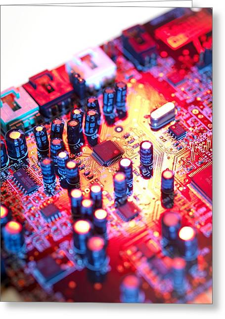 Component Greeting Cards - Circuit Board Greeting Card by Tek Image
