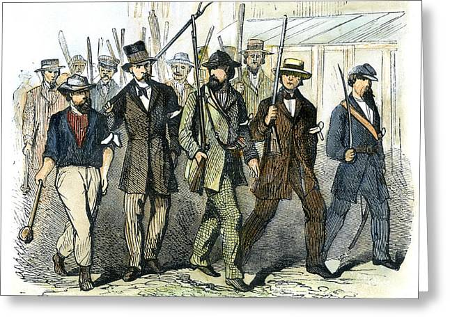 Protesters Greeting Cards - Civil War: Draft Riots Greeting Card by Granger