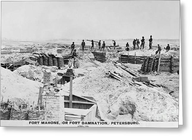 Woodbury Greeting Cards - Civil War: Petersburg Greeting Card by Granger
