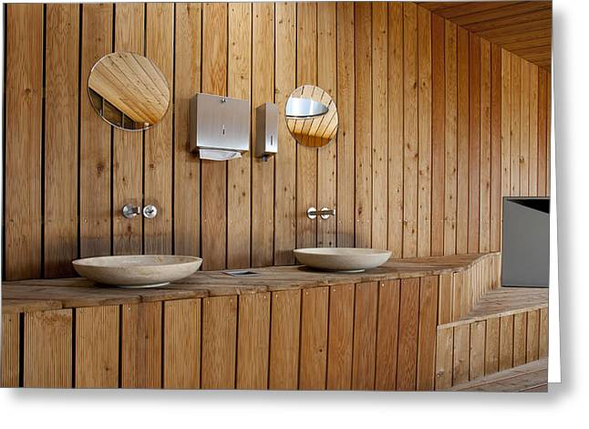 Public Restroom Greeting Cards - Estonian Road Museum Greeting Card by Jaak Nilson
