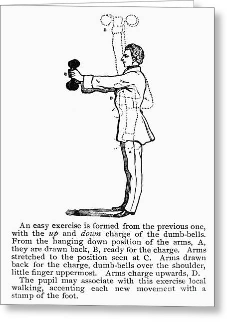 19th Century America Greeting Cards - EXERCISE, 19th CENTURY Greeting Card by Granger