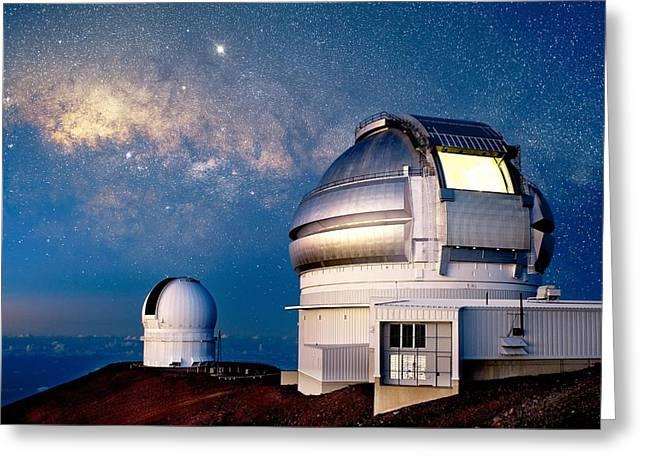 Telescope Dome Greeting Cards - Gemini North Telescope, Hawaii Greeting Card by David Nunuk