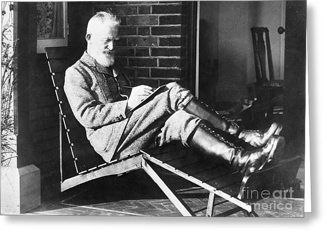 Lawn Chair Greeting Cards - George Bernard Shaw Greeting Card by Granger