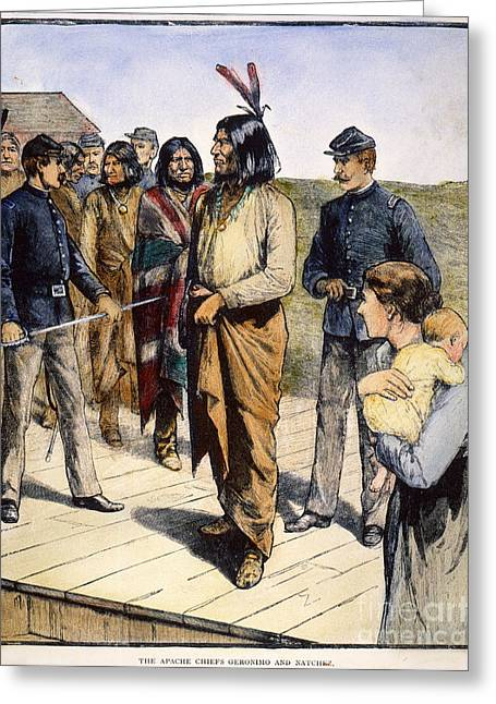 U.s Army Greeting Cards - Geronimo (1829-1909) Greeting Card by Granger