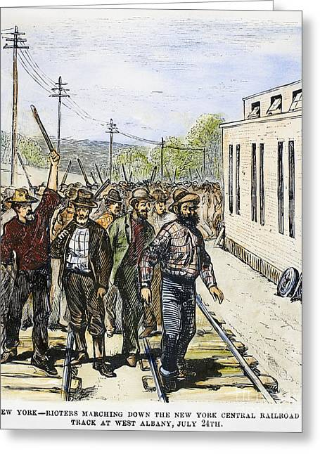 Protesters Greeting Cards - Great Railroad Strike, 1877 Greeting Card by Granger