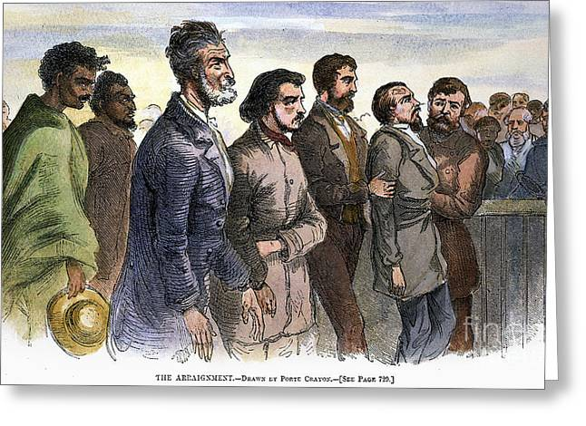 Abolition Movement Photographs Greeting Cards - John Brown (1800-1859) Greeting Card by Granger